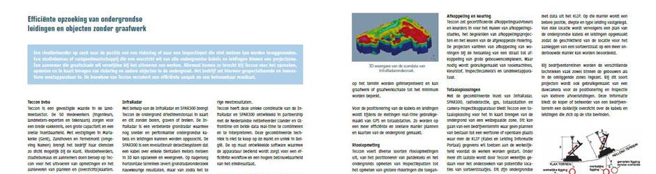 Artikel over opzoeking van ondergrondse objecten in Riorama
