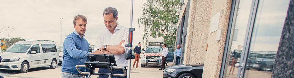 Vicepremier Alexander De Croo is een van de allereerste operatoren van de Stream-C in de Benelux.
